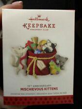 Hallmark 15th Anniversary Mischievous Kittens Ornament 2013 Member