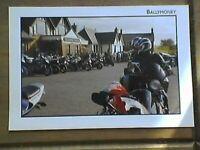 joey dunlop / joeys bar ballymoney - postcard