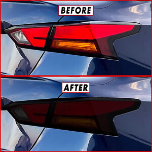 FOR 19-21 Nissan Altima Tail Light & Reflector SMOKE Precut Vinyl Tint Overlays