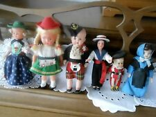 6 Super Collectible Dolls, Original And In Good Condition, Circa 1950