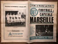 JOURNAL BUT n°154 de 1971 MARSEILLE L'OM CHAMPION DE FRANCE - SKOBLAR 44 BUTS !