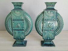 P . Lienard rare paire de céramiques art nouveau art déco décor égyptien