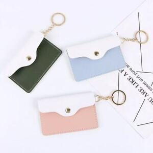 Card Case with Keychain, Button Purse Wallet, 3 colors