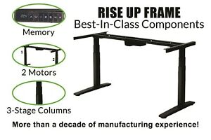 Electric Standing Desk Frame Dual Motor Memory Legs Base ergonomic adjustable