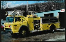 Fire Truck postcard Ford Pumper Ischua New York unposted