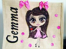 HAND PAINTED PERSONALISED JUTE SHOPPING BAGS  Unique Gifts For All Ages