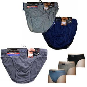 Classic Sports Mens Briefs Slips Underwear Cotton Pants S M L XL 3 6 9 12 PACK