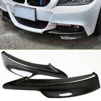 Fit For BMW 3 Series E90 E91 Front Bumper Apron Corner Splitter Lip Spoiler Set