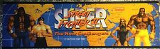 "Super Street Fighter II The New Challengers Arcade Marquee 26""x8"""