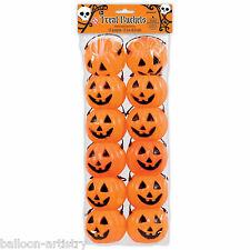 12 halloween orange citrouille fête en plastique 6cm butin faveur traiter seaux seaux