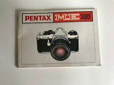 Pentax ME Super Instruction Book Manual Guide