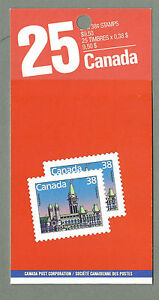 CANADA 1988 Booklet - PARLIAMENT BLDINGS Defins - 25 @ 38c - PAY BY MAIL - MNH