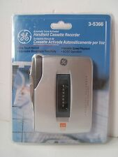 GE Voice Activated Handheld Cassette Recorder 3-5366 Brand New Sealed