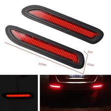 2x Car Rear Bumper Drving Braking lighting Red LED Reflectors Warning Tail Lamps