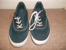 Mens blue casual fabric lace up shoes, PRIMARK (CEDAR WOOD STATE), size 7