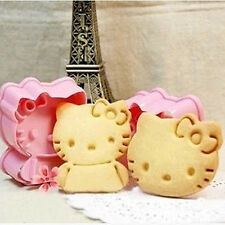 2PCS Hellokitty shape mold Cake tools cookie cutters cake mold Kitchen Tool A72c