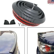 4.9ft  Real Carbon Fiber Car Rear Roof Lip Spoiler Lip Wing Trim Sticker 1.5m