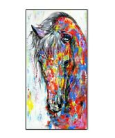 Oil Painting Poster Horse Canvas Colorful Wall Art Picture For Living Room Decor