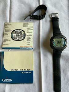 Suunto Mosquito Scuba Diving watch wrist computer with instructions