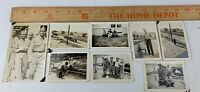 Original Lot of 8 WWII Photos Army Soldiers Uniform Camp Base City Shoe Shine 3