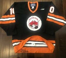 AUTHENTIC BAUER THE OLDE CRABS STITCHED HOCKEY JERSEY W/FIGHT STRAP MENS 52