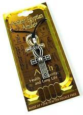 **BEAUTIFUL PEWTER EGYPTIAN STYLE ANKH AMULET - PENDANT / NECKLACE**