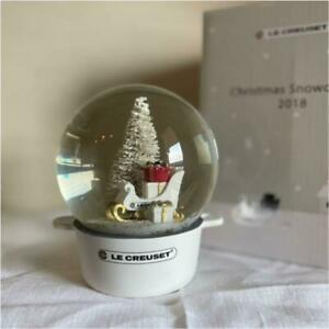 Le Creuset Snow Globe 2018 Christmas Edition White Not for Sale NEW Japan
