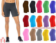 WOMENS LADIES CYCLING SHORTS ACTIVE WEAR DANCING SHORTS LYCRA LEGGINGS SHORTS