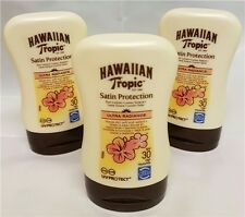 3 x Hawaiian Tropic Satin Protection Sun Tan Lotion Cream SPF30 Protective 100ml