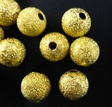 100 PCS Gold Plated Stardust Beads Round Spacer 4mm E334