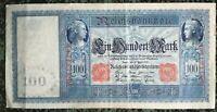 Germany Reichsbanknote - 100 Mark Red Berlin 1910