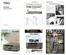 INSTRUCTION + SERVICE MANUAL + COLOR BROCHURE for the KENWOOD TS-440S PHOTOCOPY