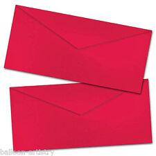 25 Plain San Valentín Rojo el día de la Carta De Amor Romance Dl Sobres De Papel