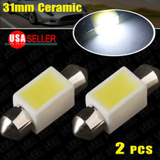 2 X 6000K White 31MM 1 COB Ceramics 3W Festoon Dome Map LED Light Bulb DE3425 US