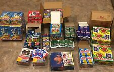 Vintage Baseball/Football/Basketball - Unopened Packs Wax Box Case 100 Card Lot