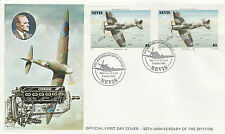 Nevis 4932 - 1986 SPITFIRE $3 IMPERF PAIR on FIRST DAY COVER