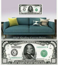 """Large Poster $1000 US Note 16""""x 40"""" Printed on Canvas"""