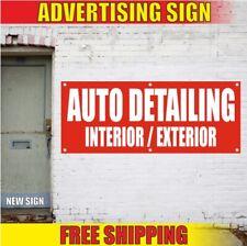 Auto Detailing Interior Exterior Advertising Banner Vinyl Sign Flag car wash new