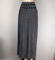 Michael Kors Black Women's Maxi Skirt Pleated Size 14 MF47EA20LW MSRP $140 NWT