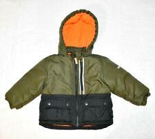 OshKosh Boys 2t Puffer Coat Fleece Lined Hooded Winter Warm Green