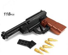Factory sales Luger P08 pistol GUN Weapon Arms Model 1:1 DIY Model Building Bloc