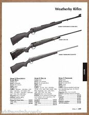 2004 WEATHERBY Mark V Dangerous Game, Deluxe & Fibermark RIFLE AD w/ prices
