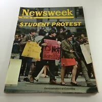 Newsweek Magazine: May 6 1968 - Student Protest - Demonstrators at Columbia