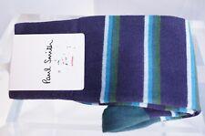 New Paul Smith Men's Socks Multi Color Striped Cotton Purple Holiday Sale