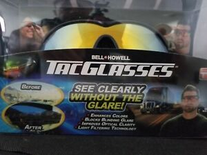 NEW! Bell and Howell Tac Glasses Sports Polarized Sunglasses Outdoors AS SEEN TV