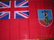 British Empire Flag British Montserrat Red Civil Ensign 3X5ft GB UK HM EIIR QEII