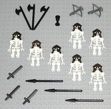 LEGO Minifigures 7 Ninjago Skeleton Knights Warriors Swords Lego Minifigs Guys