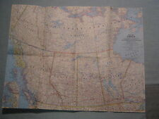 VINTAGE WESTERN CANADA WALL  MAP National Geographic September 1966 MINT