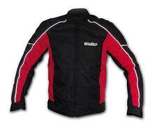 Giacca giubbotto rosso da per moto uomo con protezioni omologate 3XL 58 4XL 60