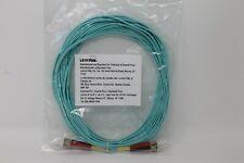 LEVITON LC-LC Duplex 50/125 OM3 Fiber Patch Cable OFNR Aqua Multimode 10 GB 2M